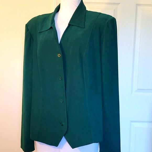 Vintage Green Jacket - Leslie Fay haberdashery-18